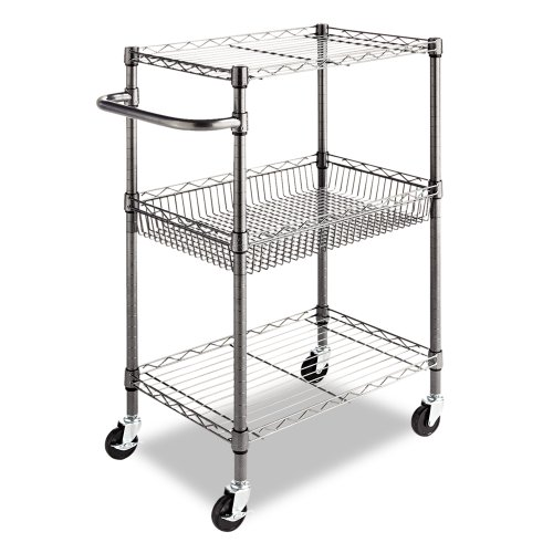 Ordinaire This 3 Tier Wire Cart Can Be Used For Many Purposes And Is Strong Enough To  Hold Your Office Stationary And Books.