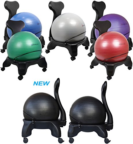 the isokinetics inc balance exercise ball chair is another popular stability ball office chair that can offer better comfort and improve your posture