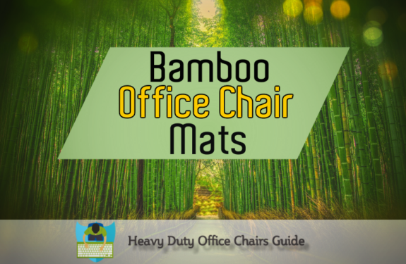 Strong Bamboo Office Chair Mats