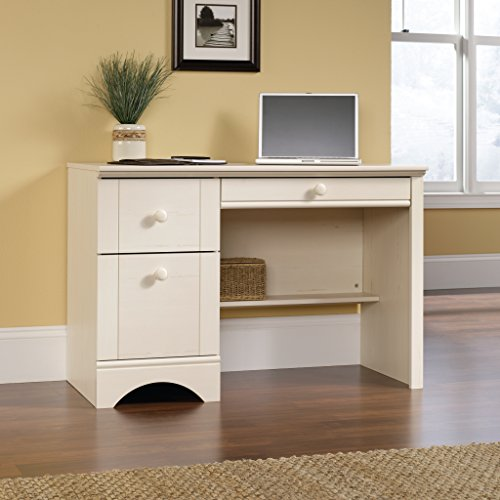 This Is The Sauder Harbor View Computer Desk And Has A Antiqued White  Finish That You Will Love. It Has Many Features Such As A Large Drawer And  Shelf Plus ...