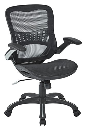 This Is The Office Star Mesh Back And Seat Office Chair And Comes In A  Black Color. It Features A Breathable Mesh Back And Seat With A Easy One  Touch ...